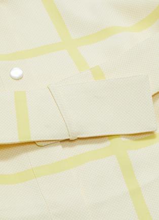 - EQUIPMENT - 'Edwidge' belted windowpane check crepe mini shirt dress