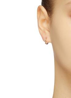 SARAH & SEBASTIAN 'Eden' diamond 9k yellow gold hoop earrings