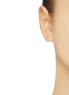 SARAH & SEBASTIAN 'Petite' sapphire pearl 9k yellow gold stud earrings