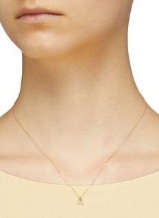 SARAH & SEBASTIAN 'Two Perle' 10k yellow gold pendant necklace