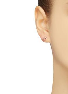 SARAH & SEBASTIAN 'Tiny Cluster' diamond sapphire stud earrings
