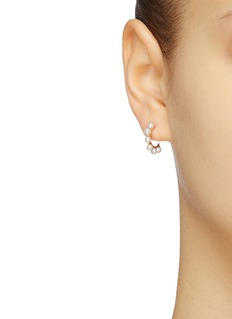 SARAH & SEBASTIAN 'Phoebe Perle' 9k yellow gold hoop earrings