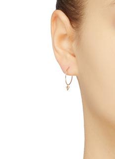 SARAH & SEBASTIAN 'Thorn' drop 9k yellow gold wire hoop single earring
