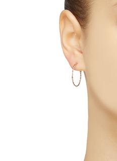 SARAH & SEBASTIAN 'Twine' large 9k yellow hoop earrings