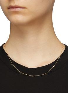 SARAH & SEBASTIAN 'Multi Sepal' diamond thorn charm necklace