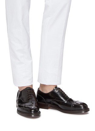 Figure View - Click To Enlarge - CHURCH'S - 'Ongar' fumé leather Oxfords