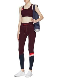 THE UPSIDE 'Retro Anna' cutout back colourblock stripe sports bra