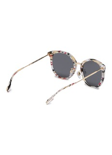 Burberry Acetate front metal round sunglasses