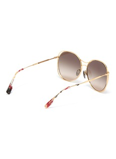 Burberry Cutout metal oversized round sunglasses