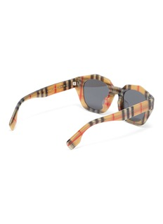 Burberry Check acetate angular frame sunglasses