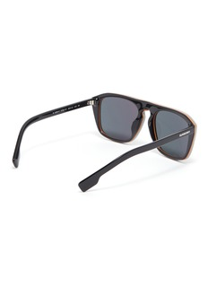 Burberry Stripe rim acetate square sunglasses