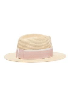 Maison Michel 'André' grosgrain ribbon hemp straw trilby hat