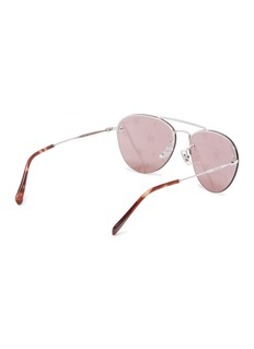 Miu Miu Star print strass browbar metal aviator sunglasses