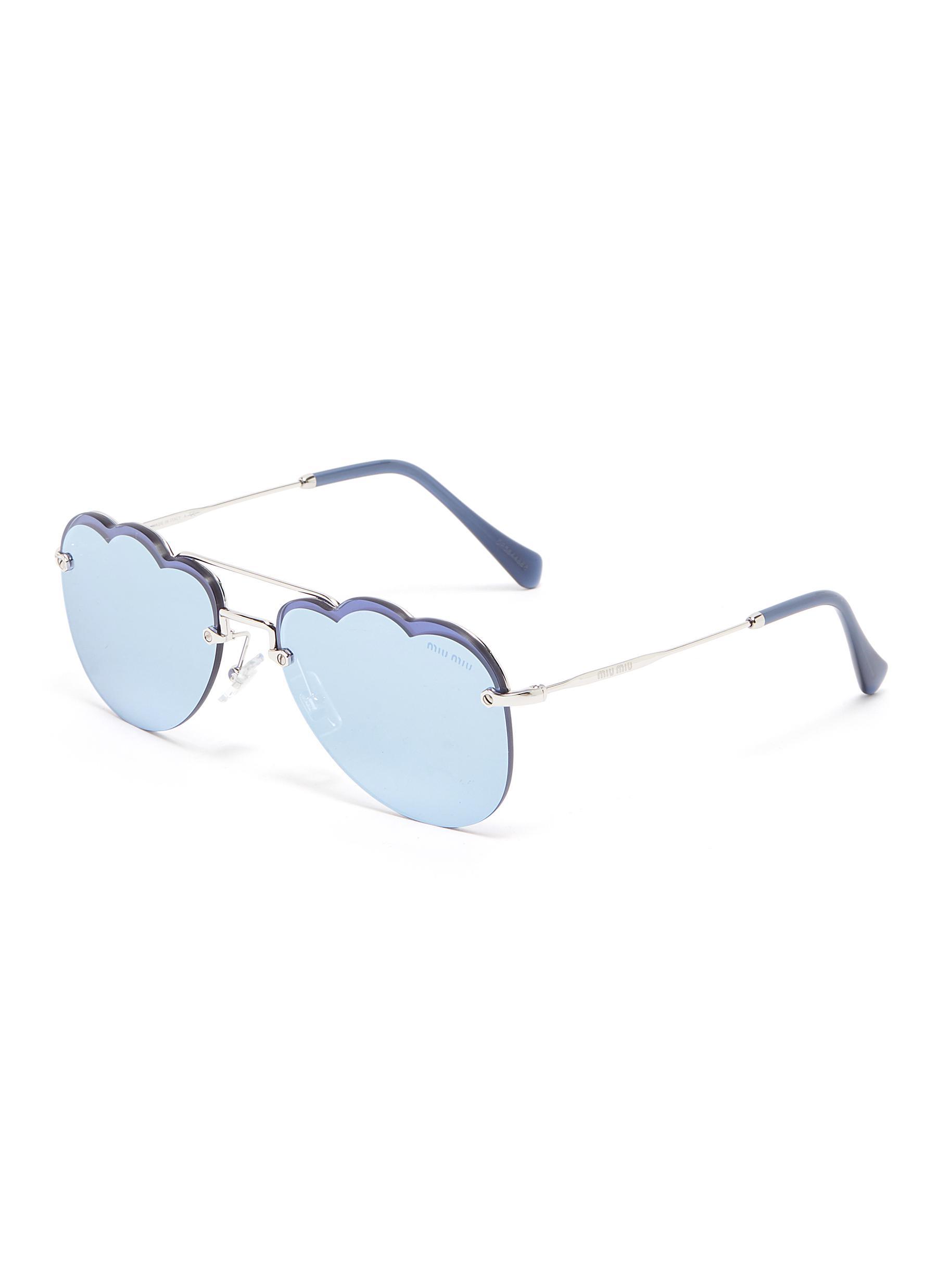 0a16c55f5 Main View - Click To Enlarge - MIU MIU - Mirror metal cloud frame sunglasses