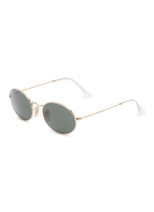 Main View - Click To Enlarge - RAY-BAN - 'RB3547' metal oval sunglasses