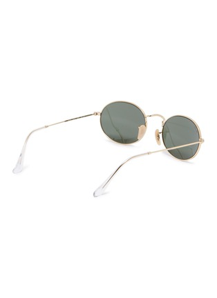 Figure View - Click To Enlarge - RAY-BAN - 'RB3547' metal oval sunglasses