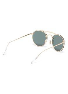 Ray-Ban 'Blaze' double bridge metal round sunglasses