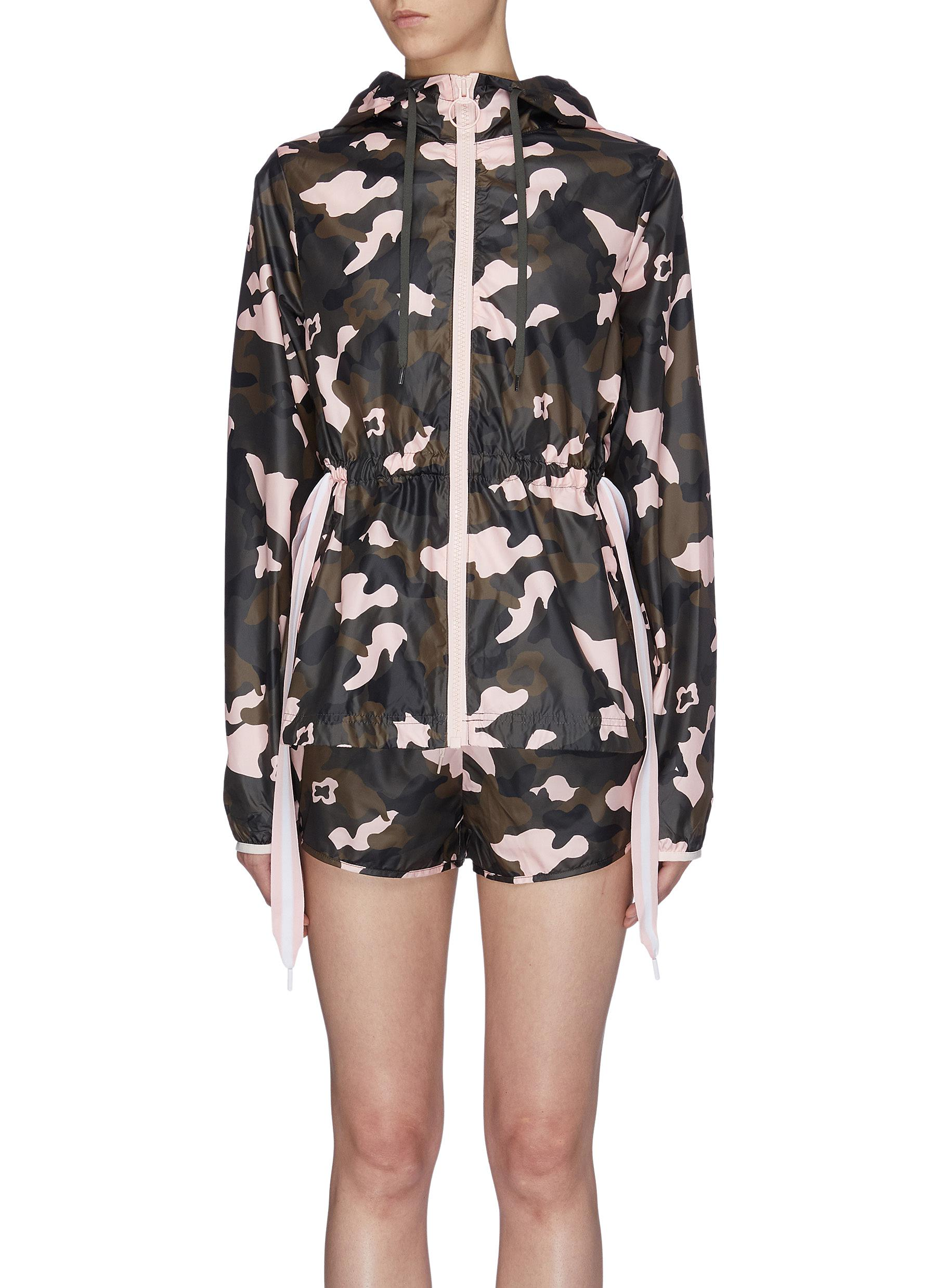 Forest Camo Ash print drawstring waist track jacket by The Upside