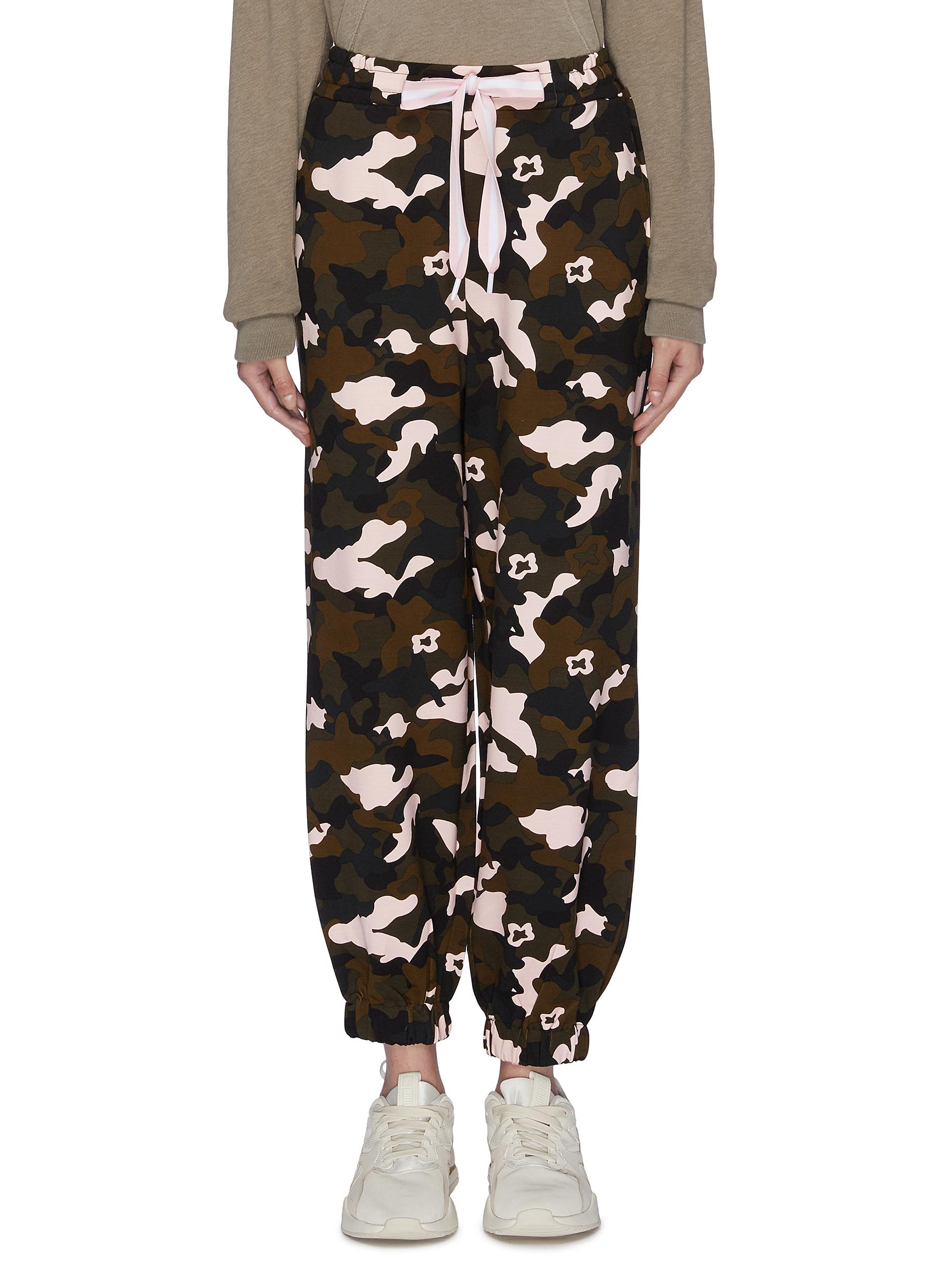 Forest Camo Ash print track pants by The Upside