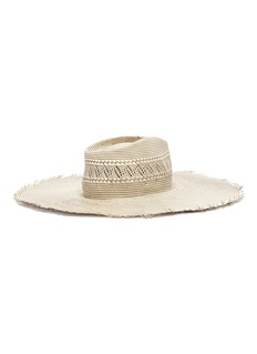Gladys Tamez 'Belle' packable frayed woven straw hat