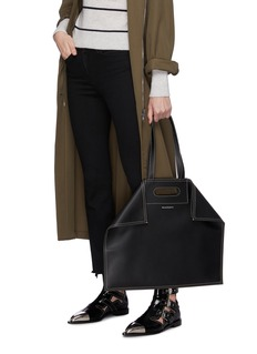 Alexander McQueen 'De Manta' contrast topstitching leather shopping tote