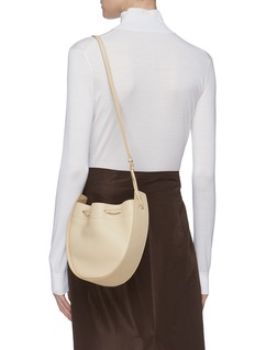 The Row Leather drawstring bag