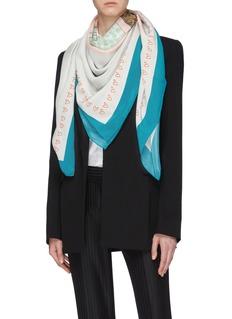 cjw 'Bag Goals' print silk twill scarf