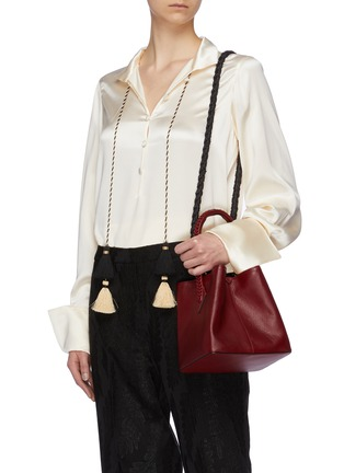 Figure View - Click To Enlarge - MÉTIER - Braided cord shoulder strap