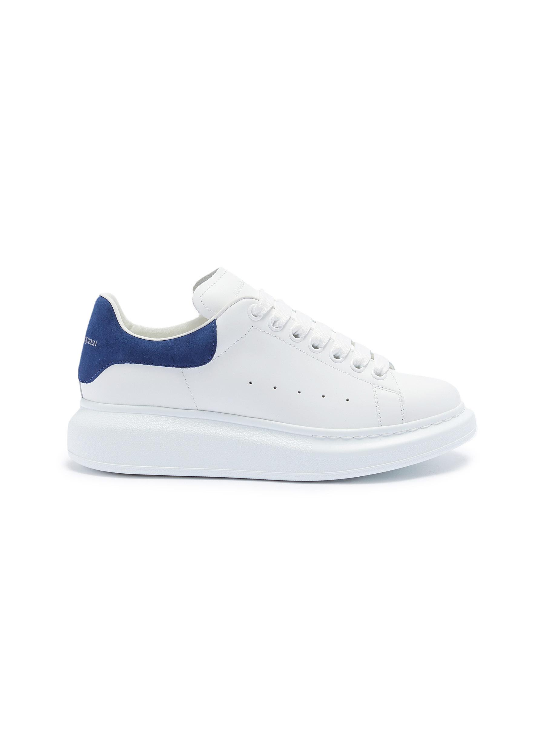 Oversized Sneaker in leather with suede collar by Alexander Mcqueen