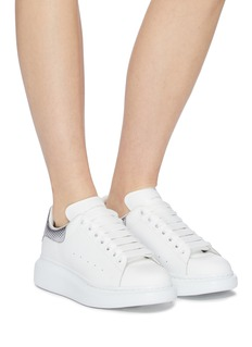 Alexander McQueen 'Larry' metallic collar chunky outsole leather sneakers