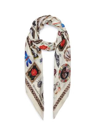 de7439c7d587 Alexander McQueen. Cameo and Curiosities silk twill scarf