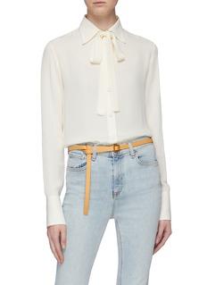 Maison Boinet Leather skinny belt