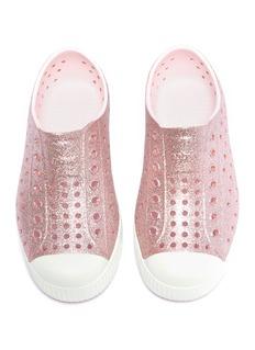 Native 'Jefferson Bling' glitter perforated toddler slip-on sneakers