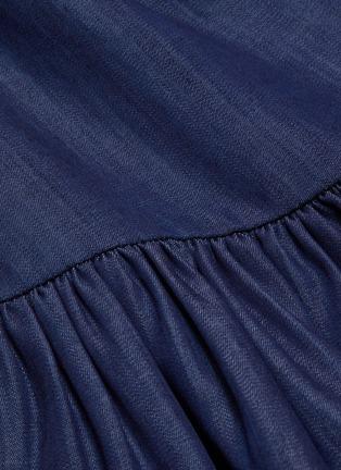 - TIBI - Ruffle cuff tencel shorts