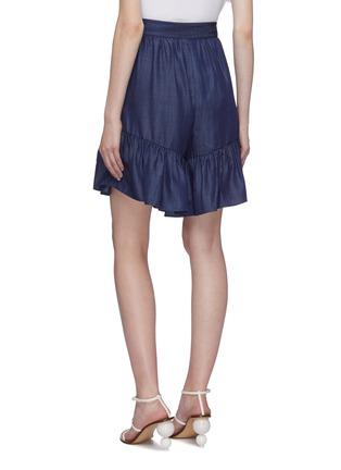 Back View - Click To Enlarge - TIBI - Ruffle cuff tencel shorts
