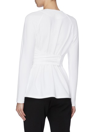 Back View - Click To Enlarge - TIBI - Shirred wrap top