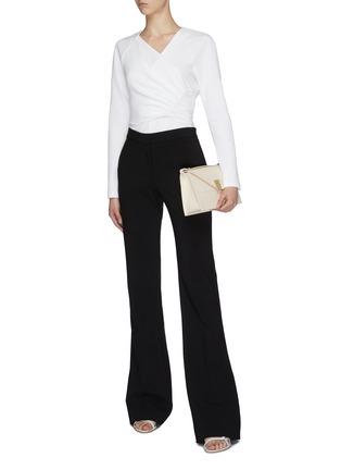 Figure View - Click To Enlarge - TIBI - Shirred wrap top