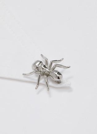 - TIBI - 'Tech' ant bead asymmetric button poplin shirt