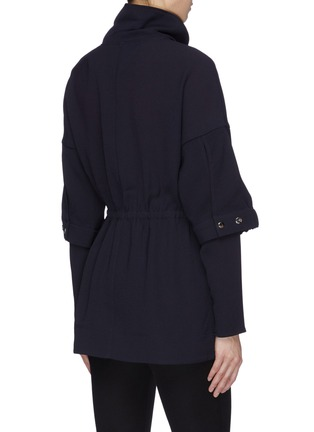 Back View - Click To Enlarge - TIBI - 'Esme' ruched crepe tunic top