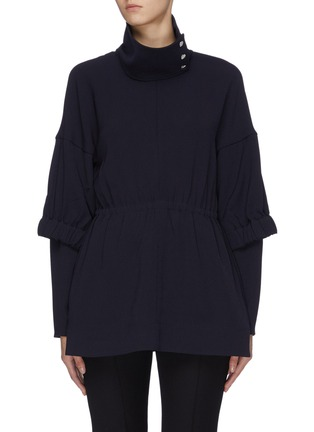 Main View - Click To Enlarge - TIBI - 'Esme' ruched crepe tunic top