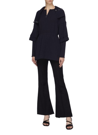 Figure View - Click To Enlarge - TIBI - 'Esme' ruched crepe tunic top