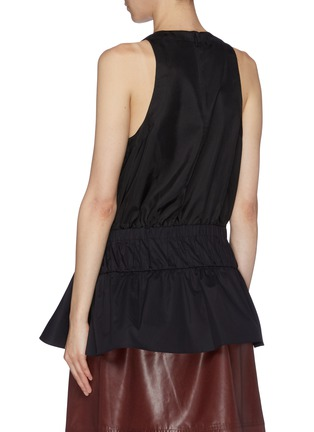 Back View - Click To Enlarge - TIBI - 'Mendini' belted twill peplum top