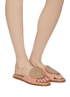 Paloma Barceló 'Emilie' jute circle suede slide sandals