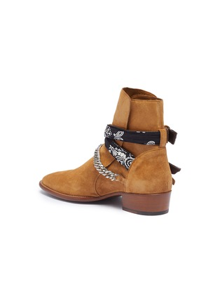 - AMIRI - 'Bandana' curb chain strap suede boots