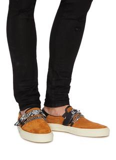 Amiri 'Bandana' curb chain strap suede skate slip-ons