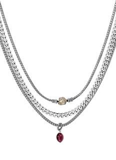John Hardy x Adwoa Aboah 'Classic Chain' gemstone multi chain tiered necklace