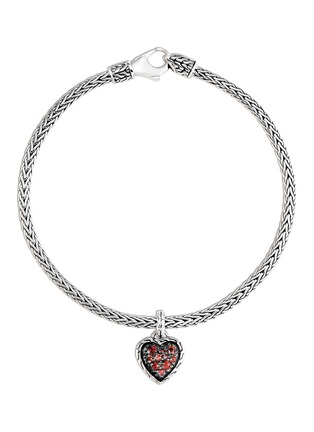 Main View - Click To Enlarge - JOHN HARDY - 'Classic Chain' sapphire heart charm silver mini bracelet