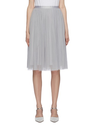 Main View - Click To Enlarge - NEEDLE & THREAD - 'Dotted' tulle midi skirt