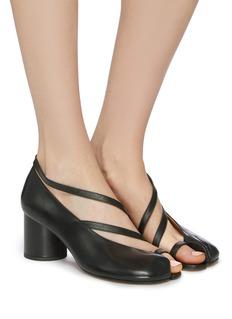 Maison Margiela 'Tabi' half strappy leather sandals