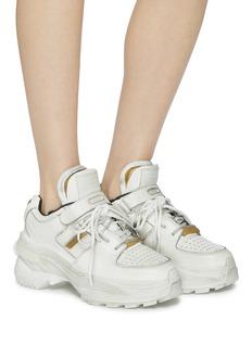 Maison Margiela 'Retro Fit' chunky outsole cutout leather sneakers